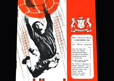Middlesbrough v Walsall 19.11.1966