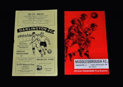 Middlesbrough v Darlington 26.12.1966 | Middlesbrough v Darlington 27.12.1966