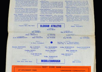 Middlesbrough v Oldham 14.01.1967