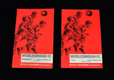 Middlesbrough v Bournemouth 11.03.1967 | Middlesbrough v G.A.I.S 14.03.1967