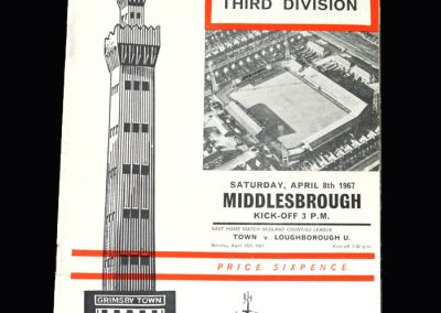 Middlesbrough v Grimsby 08.04.1967