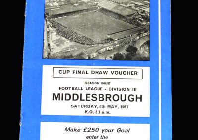 Middlesbrough v Brighton 06.05.1967