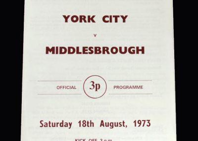 Middlesbrough v York 18.08.1973