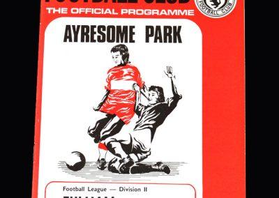 Middlesbrough v Fulham 01.09.1973