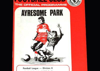 Middlesbrough v Aston Villa 15.09.1973