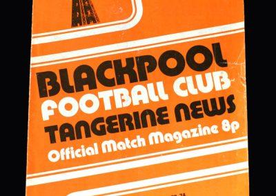 Middlesbrough v Blackpool 22.09.1973
