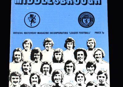 Middlesbrough v Millwall 27.10.1973