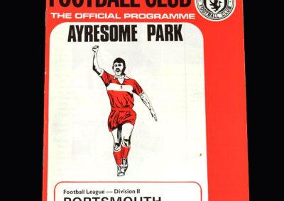 Middlesbrough v Portsmouth 19.01.1974