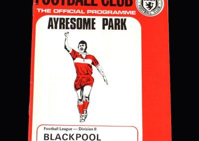 Middlesbrough v Blackpool 09.02.1974