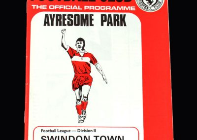 Middlesbrough v Swindon 23.02.1974