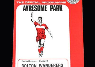 Middlesbrough v Bolton 09.04.1974