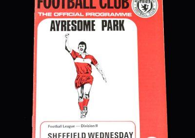 Middlesbrough v Sheff Wed 20.04.1974