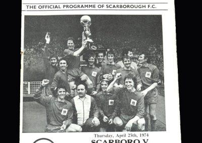 Middlesbrough v Scarborough 25.04.1974 (NRSC)