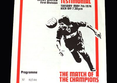 Middlesbrough v Leeds 07.05.1974 (Bill Gates Testimonial)