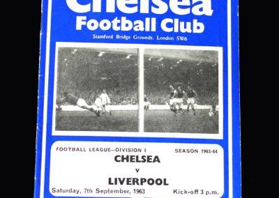 Liverpool v Chelsea 07.09.1963