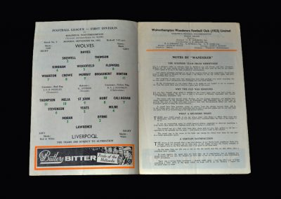Liverpool v Wolves 09.09.1963