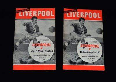Liverpool v West Ham 14.09.1963 | Liverpool v Wolves 16.09.1963