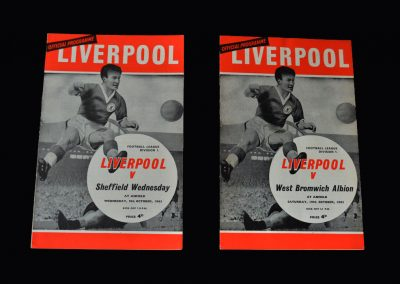 Liverpool v Sheff Wed 09.10.1963 | Liverpool v West Brom 19.10.1963