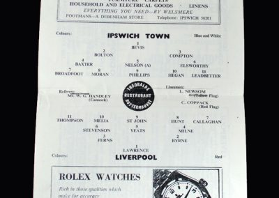 Liverpool v Ipswich 26.10.1963