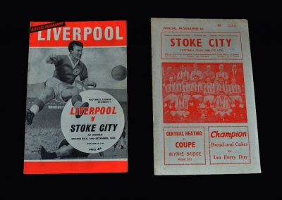 Liverpool v Stoke 26.12.1963 | Liverpool v Stoke 28.12.1963 (postponed)