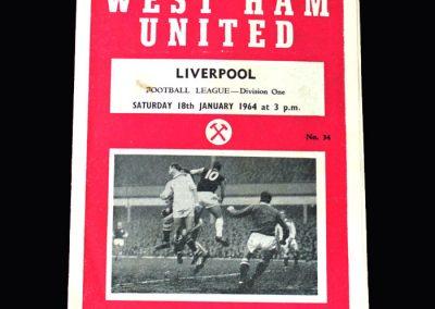 Liverpool v West Ham 18.01.1964