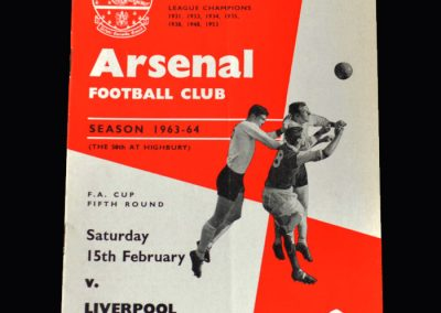 Liverpool v Arsenal 15.02.1964 (FA Cup 5th Round)