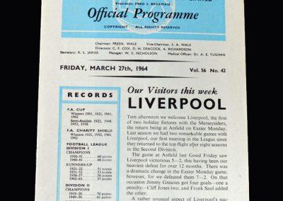 Liverpool v Spurs 27.03.1964