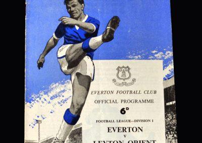 Orient v Everton 05.09.1962