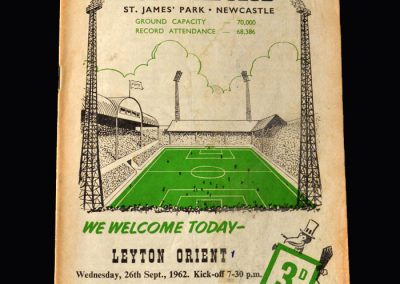 Orient v Newcastle 26.09.1962 (League Cup 2nd Round)