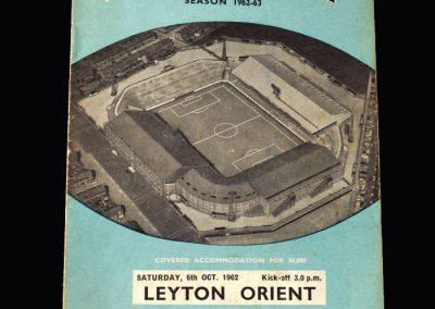 Orient v Man City 06.10.1962