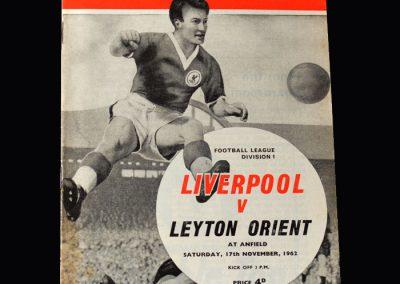 Orient v Liverpool 17.11.1962