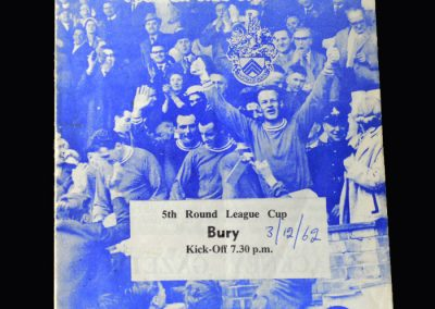 Orient v Bury 03.12.1962 (League Cup 5th Round)