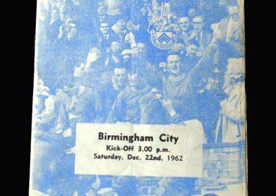 Orient v Birmingham 22.12.1962