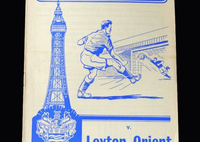 Orient v Blackpool 02.03.1963