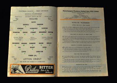 Orient v Wolves 30.03.1963