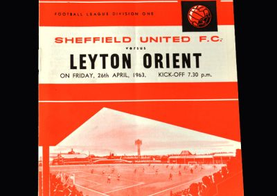 Orient v Sheff Utd 26.04.1963