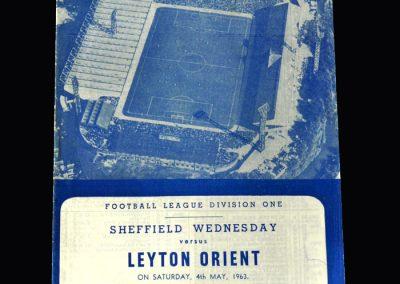 Orient v Sheff Wed 04.05.1963