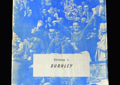 Orient v Burnley 07.05.1963