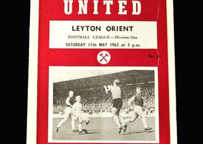 Orient v West Ham 11.05.1963