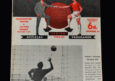 Orient v Man Utd 18.05.1963