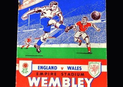 England v Wales 12.11.1952
