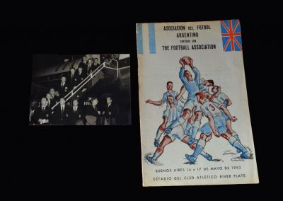 England v Argentina 17.05.1953 (Team Photo - Taylor Debut)