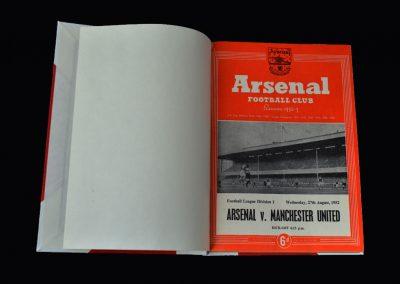 Arsenal v Man Utd 27.08.1952