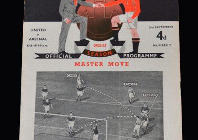 Arsenal v Man Utd 03.09.1952