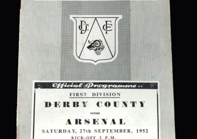 Arsenal v Derby 27.09.1952
