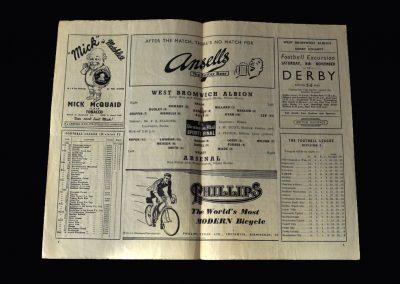 Arsenal v West Brom 01.11.1952