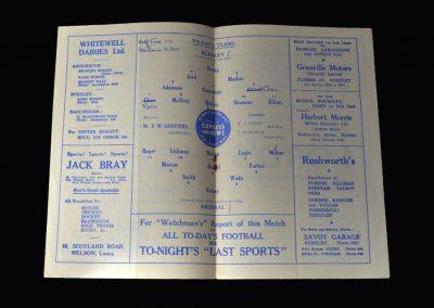 Arsenal v Burnley 13.12.1952
