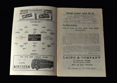 Arsenal v Sunderland 03.01.1953