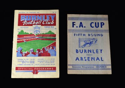 Arsenal v Burnley 14.02.1953 (FA Cup 5th Round)