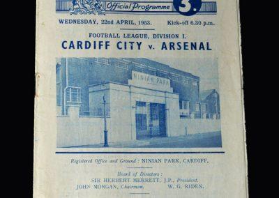 Arsenal v Cardiff 22.04.1953